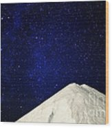 Milky Way Above White Mountain Wood Print