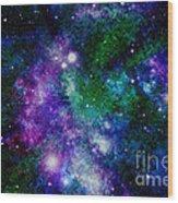 Milky Way Abstract Wood Print