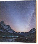 Milky Way And Zodiacal Light Ove Wood Print