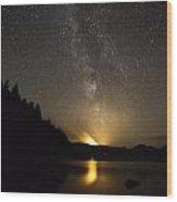 Milky Way At Crafnant 2 Wood Print