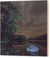 Milky Way At Gwenant Wood Print