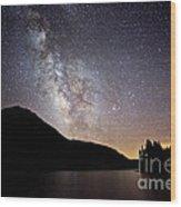 Milky Way At Highland Lakes Wood Print