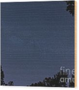 Milky Way Fisheye Wood Print
