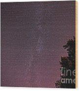 Milky Way In Nj Wood Print