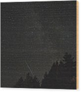 Milky Way Meteor Wood Print by Michael Trofimov