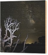Milky Way Over Arches National Park Wood Print