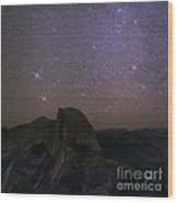 Milky Way Over Half Dome, Yosemite, Usa Wood Print