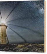Milky Way Over Marshall Point Wood Print