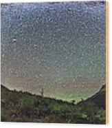 Milky Way Over Red Rock Canyon Wood Print
