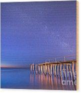 Milky Way Sunrise Wood Print