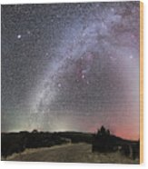 Milky Way, Zodiacal Light And Other Wood Print