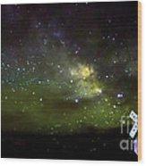 Milkyway  Crossing Blur Wood Print