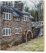 Mill Along The Delaware River In West Trenton Wood Print