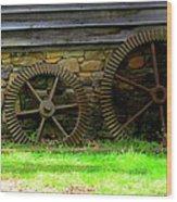 Mill Gears Wood Print