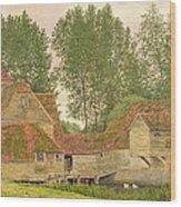 Mill On The Thames At Mapledurham, 1860 Wood Print
