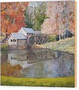 Mill Pond Wood Print