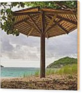 Mill Reef Beach Hut Wood Print