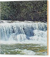 Mill Shoals Waterfall During Flood Stage Wood Print