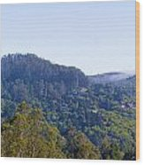 Mill Valley Ca Hills With Fog Coming In Left Panel Wood Print