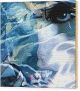 Milla Jovovich Portrait - Water Reflections Series Wood Print