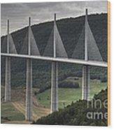 Millau Viaduct In France Wood Print