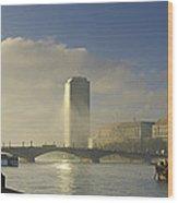 Millbank Tower During Fog, Lambeth Wood Print