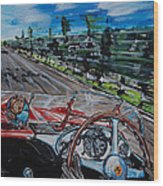 Mille Miglia On Board With Peter Collins Wood Print
