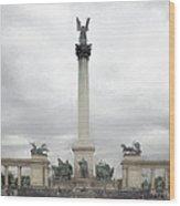 Millennium Monument Budapest Wood Print