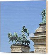 Millennium Monument In Budapest Wood Print