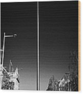 millennium needle spire of dublin monument of light and dublin bus in road in O'Connell Street Dublin Wood Print