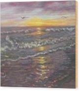 Miller Ocean Sunset Wood Print