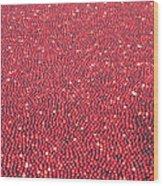 Millions Of Cranberries  Wood Print