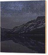 Millky Way Over Tenaya Lake Wood Print