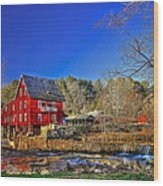 Historic Millmore Mill Shoulder Bone Creek Wood Print