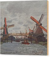 Mills At Westzijderveld Wood Print