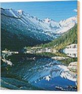 Mills Lake Wood Print by Eric Glaser