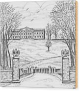 Mills Mansion Staatsburg Wood Print
