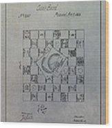 Milton Bradley Life Game Patent Wood Print