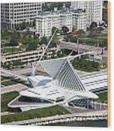 Milwaukee Art Museum Aerial Wood Print