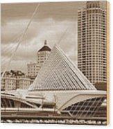 Milwaukee Art Museum In Winter Wood Print