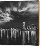 Milwaukee At Night Wood Print
