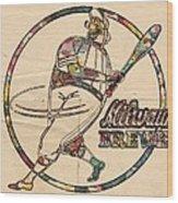 Milwaukee Brewers Vintage Art Wood Print