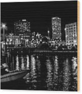 Milwaukee Downtown Third Ward Wood Print