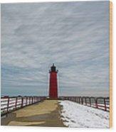 Milwaukee Pierhead Light Wood Print