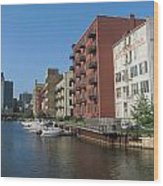 Milwaukee River Architechture 1 Wood Print