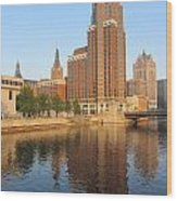 Milwaukee River Theater District 4 Wood Print