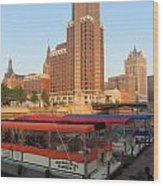 Milwaukee River Theater District 5 Wood Print