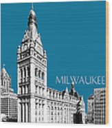Milwaukee Skyline City Hall - Steel Wood Print