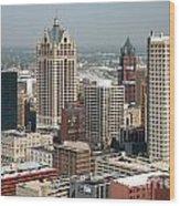 Milwaukee Wisconsin Skyline Aerial Wood Print