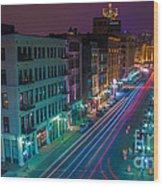 Milwaukee's Evening Active Glow Wood Print